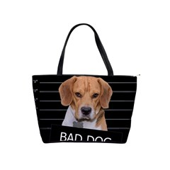 Bad Dog Shoulder Handbags by Valentinaart