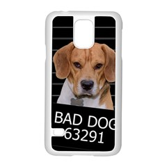 Bad Dog Samsung Galaxy S5 Case (white) by Valentinaart