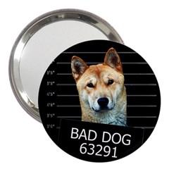Bad Dog 3  Handbag Mirrors by Valentinaart