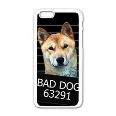 Bad Dog Apple Iphone 6/6s White Enamel Case by Valentinaart