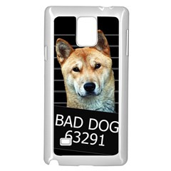 Bad Dog Samsung Galaxy Note 4 Case (white) by Valentinaart