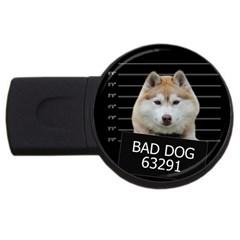 Bad Dog Usb Flash Drive Round (4 Gb) by Valentinaart