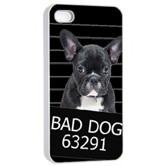 Bad Dog Apple Iphone 4/4s Seamless Case (white) by Valentinaart
