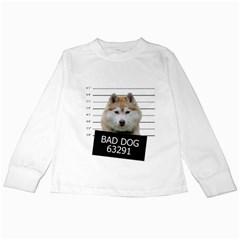 Bad Dog Kids Long Sleeve T Shirts by Valentinaart