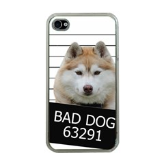 Bad Dog Apple Iphone 4 Case (clear) by Valentinaart