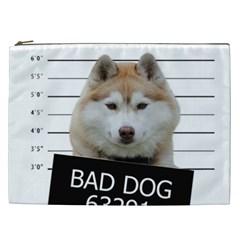 Bad Dog Cosmetic Bag (xxl)  by Valentinaart