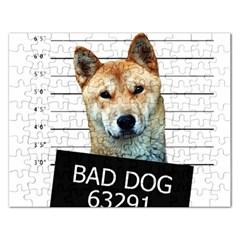 Bad Dog Rectangular Jigsaw Puzzl by Valentinaart