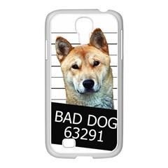 Bad Dog Samsung Galaxy S4 I9500/ I9505 Case (white) by Valentinaart