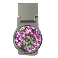 Purple Green Paint Texture          Money Clip (round) by LalyLauraFLM