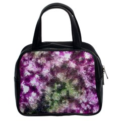 Purple green paint texture          Classic Handbag (Two Sides) by LalyLauraFLM