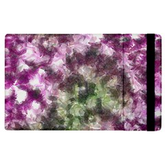 Purple green paint texture    Kindle Fire (1st Gen) Flip Case by LalyLauraFLM