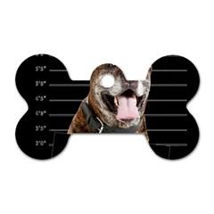 Bad Dog Dog Tag Bone (one Side) by Valentinaart