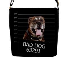 Bad Dog Flap Messenger Bag (l)  by Valentinaart