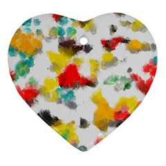 Colorful Paint Stokes           Ornament (heart) by LalyLauraFLM
