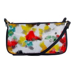 Colorful Paint Stokes           Shoulder Clutch Bag by LalyLauraFLM