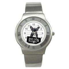 Bad Dog Stainless Steel Watch by Valentinaart