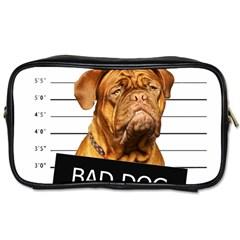 Bad Dog Toiletries Bags 2 Side by Valentinaart