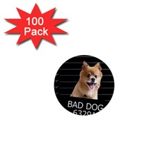 Bad Dog 1  Mini Magnets (100 Pack)  by Valentinaart