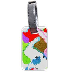 Painted Shapes            Luggage Tag (one Side) by LalyLauraFLM