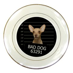 Bad Dog Porcelain Plates by Valentinaart