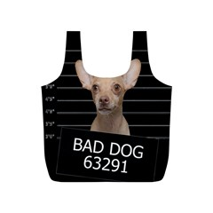 Bad Dog Full Print Recycle Bags (s)  by Valentinaart