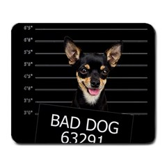 Bad Dog Large Mousepads by Valentinaart