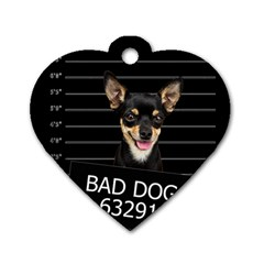 Bad Dog Dog Tag Heart (one Side) by Valentinaart