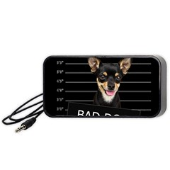 Bad Dog Portable Speaker (black) by Valentinaart