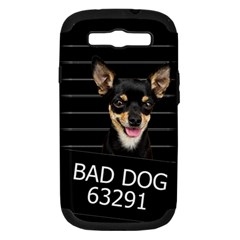 Bad Dog Samsung Galaxy S Iii Hardshell Case (pc+silicone) by Valentinaart
