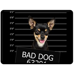 Bad Dog Double Sided Fleece Blanket (large)  by Valentinaart