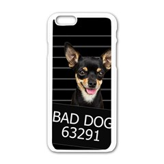 Bad Dog Apple Iphone 6/6s White Enamel Case by Valentinaart