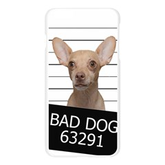 Bad dog Apple Seamless iPhone 6 Plus/6S Plus Case (Transparent) by Valentinaart