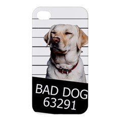 Bad Dog Apple Iphone 4/4s Premium Hardshell Case by Valentinaart