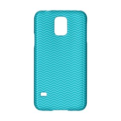 Blue Waves Pattern  Samsung Galaxy S5 Hardshell Case  by TastefulDesigns