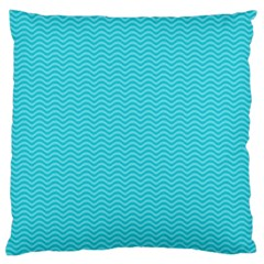 Blue Waves Pattern  Large Flano Cushion Case (two Sides) by TastefulDesigns