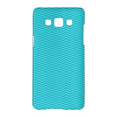 Blue Waves Pattern  Samsung Galaxy A5 Hardshell Case  by TastefulDesigns