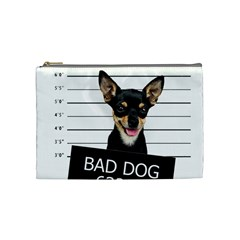 Bad Dog Cosmetic Bag (medium)  by Valentinaart