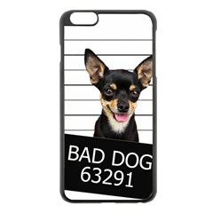 Bad Dog Apple Iphone 6 Plus/6s Plus Black Enamel Case by Valentinaart