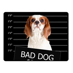 Bad Dog Fleece Blanket (small) by Valentinaart