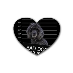 Bad Dog Heart Coaster (4 Pack)  by Valentinaart