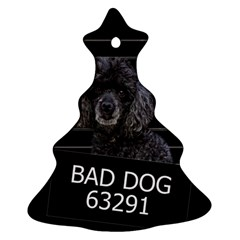Bad Dog Ornament (christmas Tree)  by Valentinaart