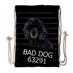 Bad Dog Drawstring Bag (large) by Valentinaart