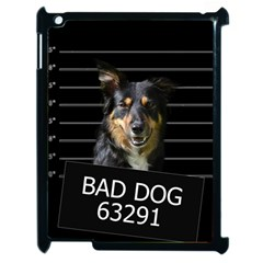 Bad Dog Apple Ipad 2 Case (black) by Valentinaart