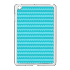 Abstract Blue Waves Pattern Apple Ipad Mini Case (white) by TastefulDesigns