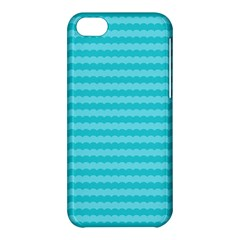 Abstract Blue Waves Pattern Apple Iphone 5c Hardshell Case by TastefulDesigns