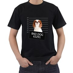 Bad dog Men s T-Shirt (Black) (Two Sided)