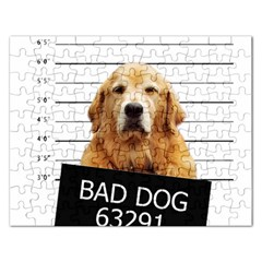 Bad Dog Rectangular Jigsaw Puzzl by Valentinaart