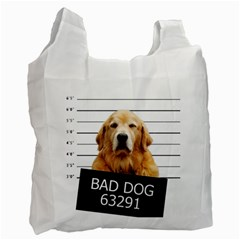 Bad Dog Recycle Bag (two Side)  by Valentinaart