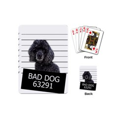 Bad Dog Playing Cards (mini)  by Valentinaart