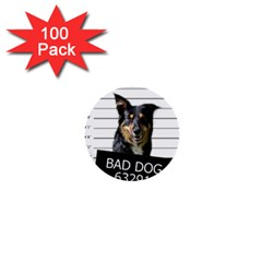 Bad dog 1  Mini Buttons (100 pack)  by Valentinaart